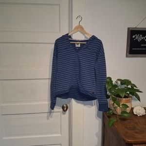 Large Roxy Striped Blue Sweatshirt
